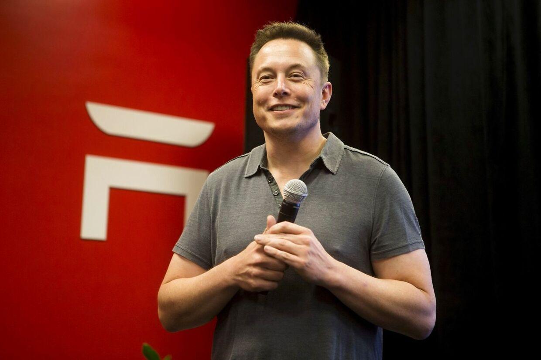 Elon Musks optionspakke er strikket sådan sammen, at han kan have udsigt til svimlende 55,8 mia. dollar, hvis Teslas markedsværdi rammer drømmescenariet på 650 mia. dollar. Foto: Beck Diefenbach/Reuters/Ritzau Scanpix