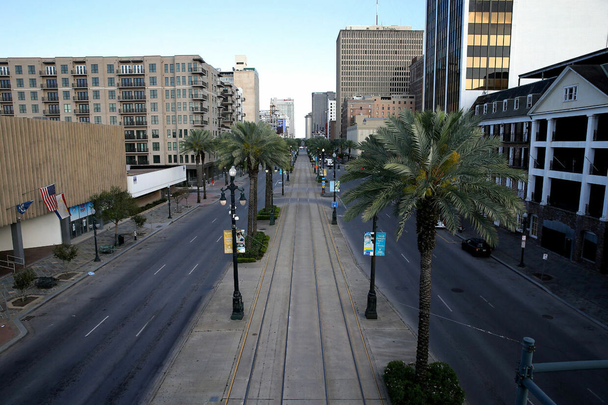A view of Canal Street amid the outbreak of the coronavirus disease (COVID-19), in New Orleans, Louisiana, U.S. March 25, 2020.