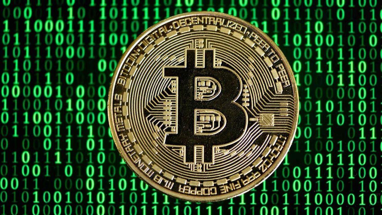 Her ses en fysisk gengivelse af den digitale valuta, Bitcoin.