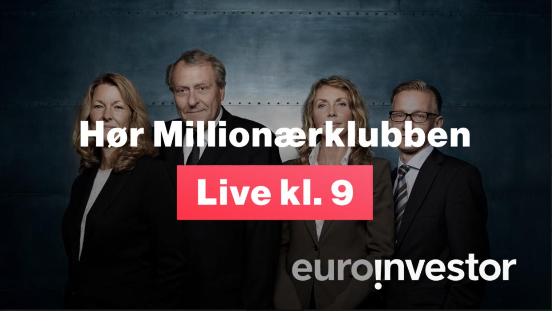 Millionærklubben LIVE alle hverdage kl. 9:00