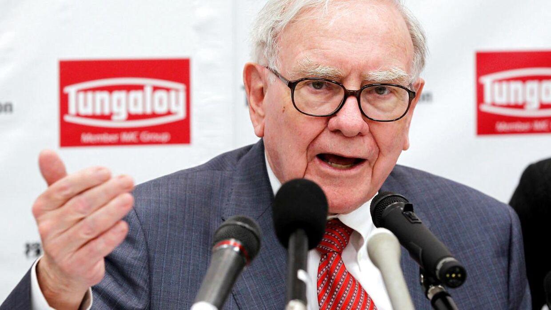 Her ses den legendariske value-investor Warren Buffett, der står i spidsen for investeringsselskabet Berkshire Hathaway