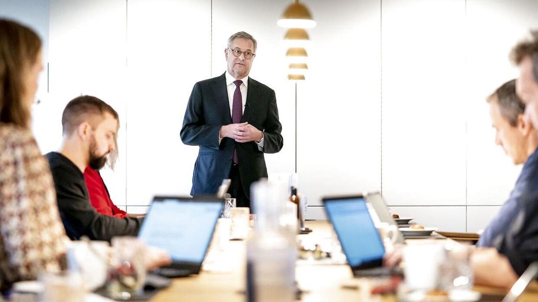 Her ses topchef Søren Skou fra A.P. Møller - Mærsk 18. november 2020.